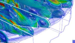 Header - CFD - Etude vectorielle - Arena - vitesse d'air