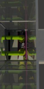Modélisation CAO d'un groupe électrogène - vue itnérieure 2
