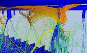 Simulation CFD des effets d'induction sur une buse CVC