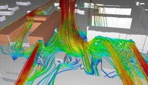 Simulation CFD - effet venturi - urbanisme