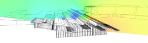 Simulation de la ventilation naturelle - grand volume - Center Parc