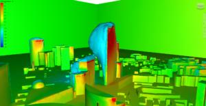 Simulation CFD - Zone de dépression - bulle de sillage